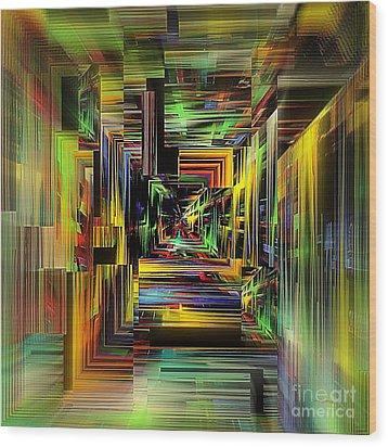 Abstract Perspective E3 Wood Print by Greg Moores