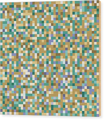 Abstract Pixels Wood Print by Mike Taylor