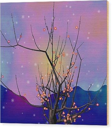 Abstract Plum Wood Print by GuoJun Pan