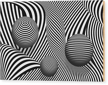 Abstract - Poke Out My Eyes Wood Print by Mike Savad