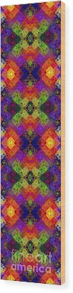 Abstract - Rainbow Connection - Panel - Panorama - Horizontal Wood Print by Andee Design