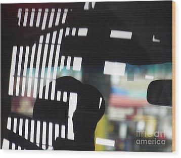 Abstract Reflection 18 Wood Print by Sarah Loft