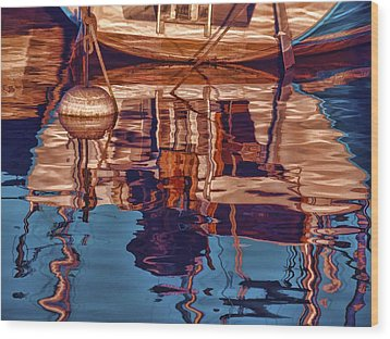 Abstract Reflections Wood Print by Muhie Kanawati