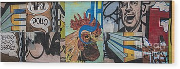 Abstract Rooster Panel Wood Print by Terry Rowe