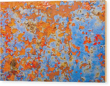 Abstract - Rust And Metal Series Wood Print by Mark Weaver