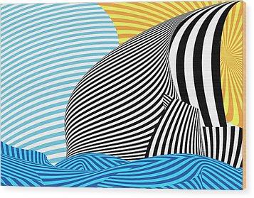 Abstract - Sailing Wood Print by Mike Savad