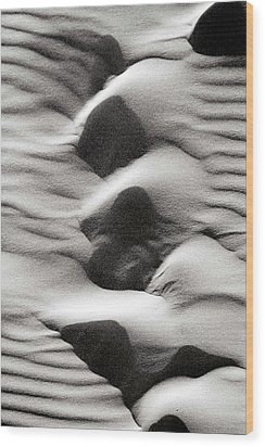 Abstract Sand 6 Wood Print by Arie Arik Chen