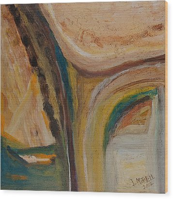Abstract Sand Mix Wood Print