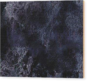 Abstract Scenery No.6 - Nightmare Wood Print by Wolfgang Schweizer