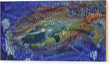 Abstract Sea Turtle 1 Wood Print by Luis  Navarro