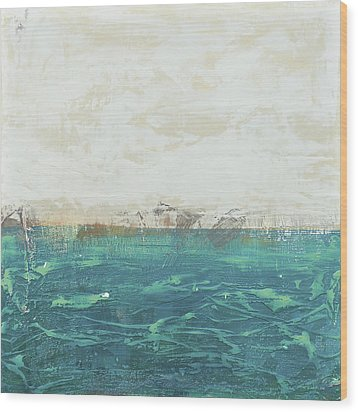 Abstract Seascape 02/14a Wood Print by Filippo B