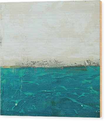 Abstract Seascape 02/14b Wood Print by Filippo B