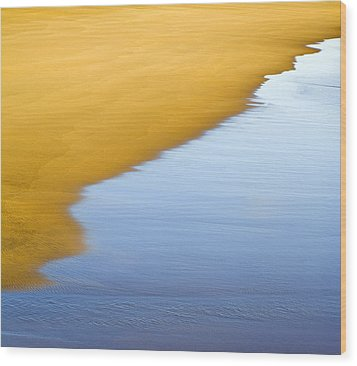 Abstract Seascape Wood Print by Frank Tschakert