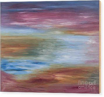Abstract Seascape Wood Print by Lana Enderle