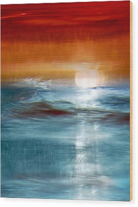 Abstract Seascape Wood Print by Natalie Kinnear