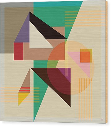Abstract Shapes #4 Wood Print by Gary Grayson