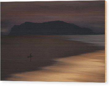 Wood Print featuring the photograph Abstract Shoreline 73a0160 by David Orias