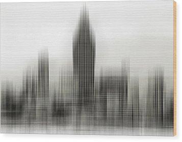 Abstract Skyline Wood Print by Pedro Fernandez
