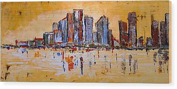 Abstract Skyline Wood Print