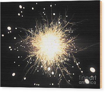 Abstract Sparkle Wood Print by Pixel Chimp