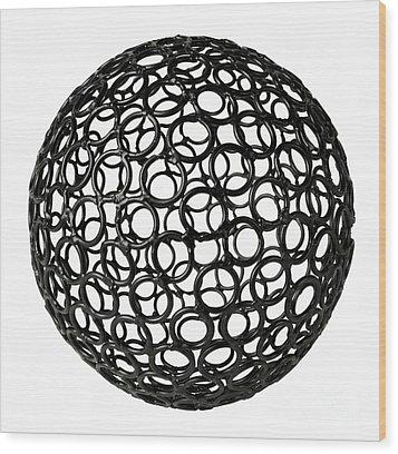 Abstract Sphere Wood Print by Tony Cordoza