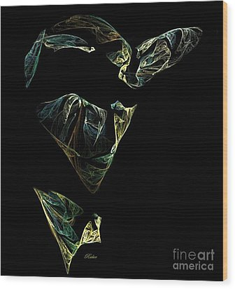 Abstract Stranger Wood Print by Sara  Raber