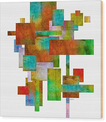 Abstract Study 21 Abstract -art Wood Print by Ann Powell