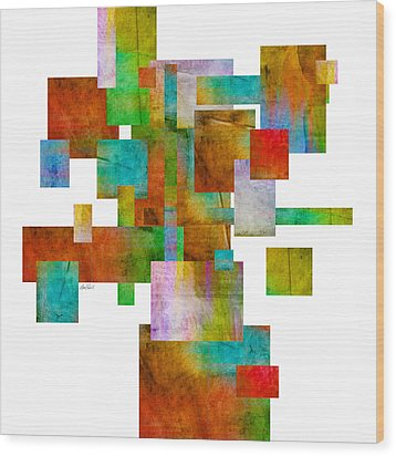 Abstract Study 22 Abstract- Art Wood Print by Ann Powell