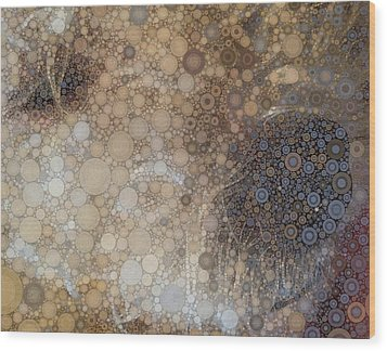 Abstract Study Of The Nose Of The Bichon Frise Wood Print by Susan Maxwell Schmidt