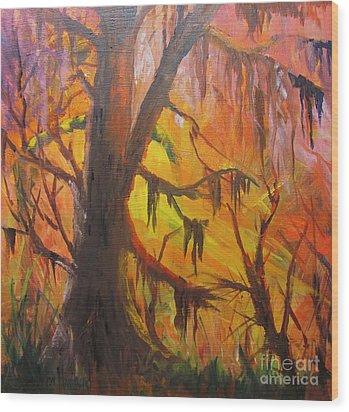 Abstract Swamp Wood Print