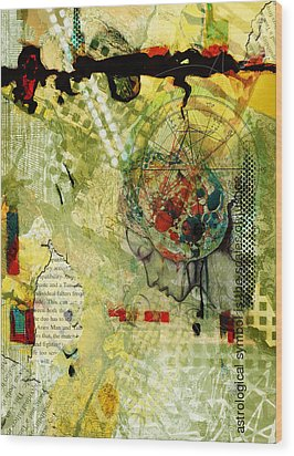 Abstract Tarot Art 009 Wood Print by Corporate Art Task Force