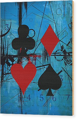 Abstract Tarot Art 012 Wood Print by Corporate Art Task Force