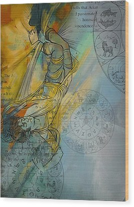 Abstract Tarot Art 015 Wood Print by Corporate Art Task Force