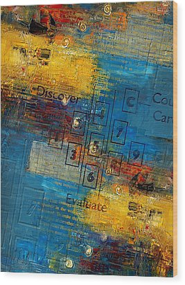 Abstract Tarot Art 016 Wood Print by Corporate Art Task Force