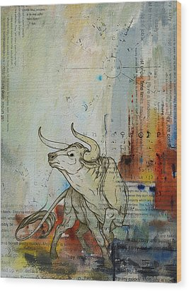 Abstract Tarot Art 017 Wood Print by Corporate Art Task Force