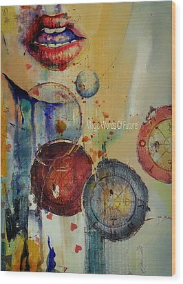 Abstract Tarot Art 021 Wood Print by Corporate Art Task Force