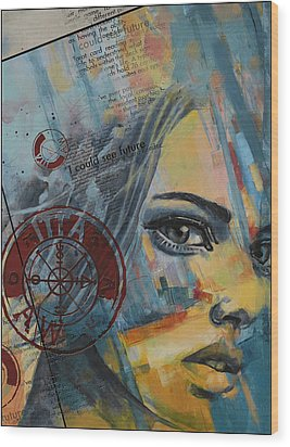Abstract Tarot Art 022a Wood Print by Corporate Art Task Force