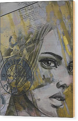 Abstract Tarot Art 022b Wood Print by Corporate Art Task Force