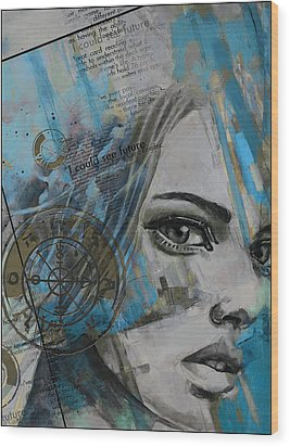 Abstract Tarot Art 022c Wood Print by Corporate Art Task Force