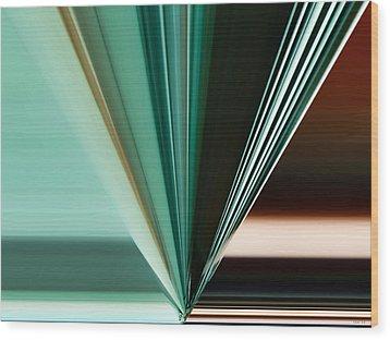 Abstract - Teal - Aqua - Five Wood Print