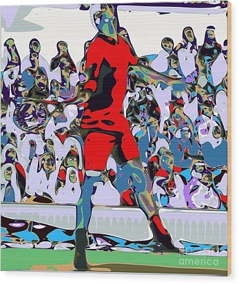 Abstract Tennis Wood Print by Chris Butler