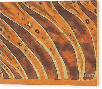 Abstract Tiger Stripes Wood Print by Pixel Chimp