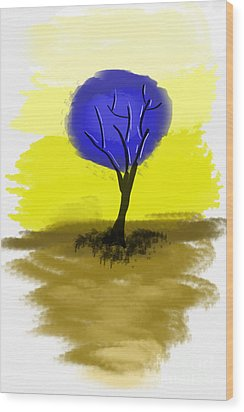 Abstract Tree Painting Wood Print by Art Photography
