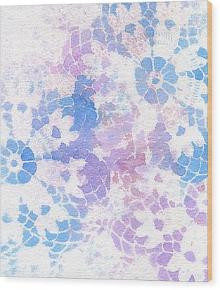 Abstract Vintage Lace Wood Print