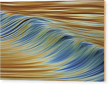 Abstract Wave C6j7857 Wood Print by David Orias