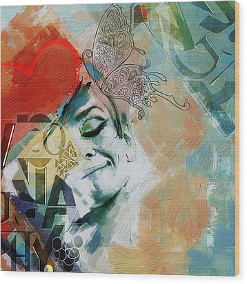 Abstract Women 008 Wood Print by Corporate Art Task Force