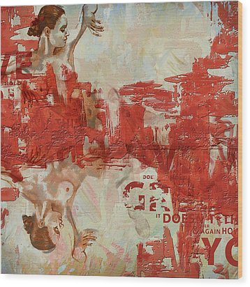 Abstract Women 20 Wood Print by Corporate Art Task Force