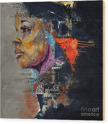 Abstract Women 20 Wood Print