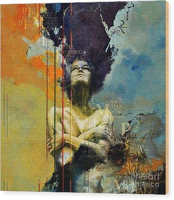 Abstract Women 3 Wood Print