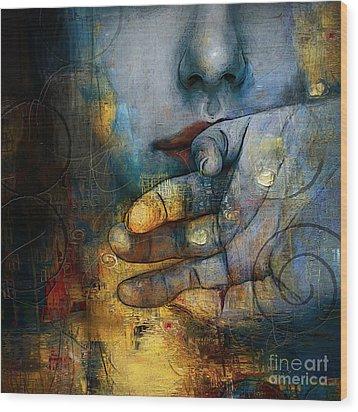 Abstract Women 5 Wood Print